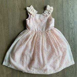 Janie and Jack puffy rose gold dress